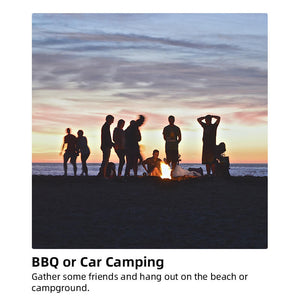 Take a sanswee portable fire pit to have BBQ on the beach or campground