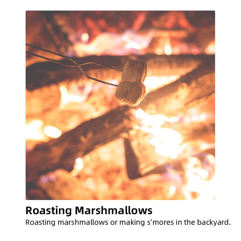 using sanswee portable fire pit to roasting marshmallow