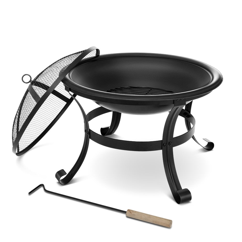 Portable Wood Burning Fire Pits, Black - SanSwee Outdoor