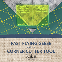 Fast Flying Geese with the Corner Cutter Tool