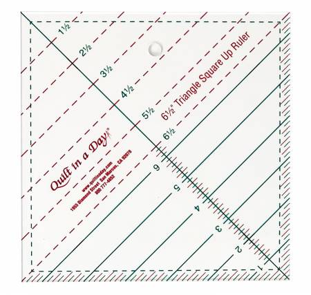 "6-1/2"" Triangle Square Up Ruler"