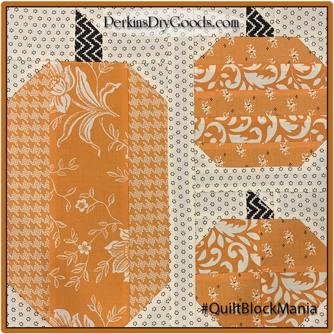 Stacked Pumpkins Block Pattern PDF