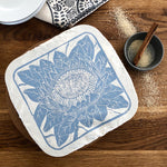 Dish and Casserole Cover Protea Print Square | for square bakes