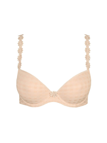 Marie Jo Avero padded round shape underwired plunge bra in Caffe Latte