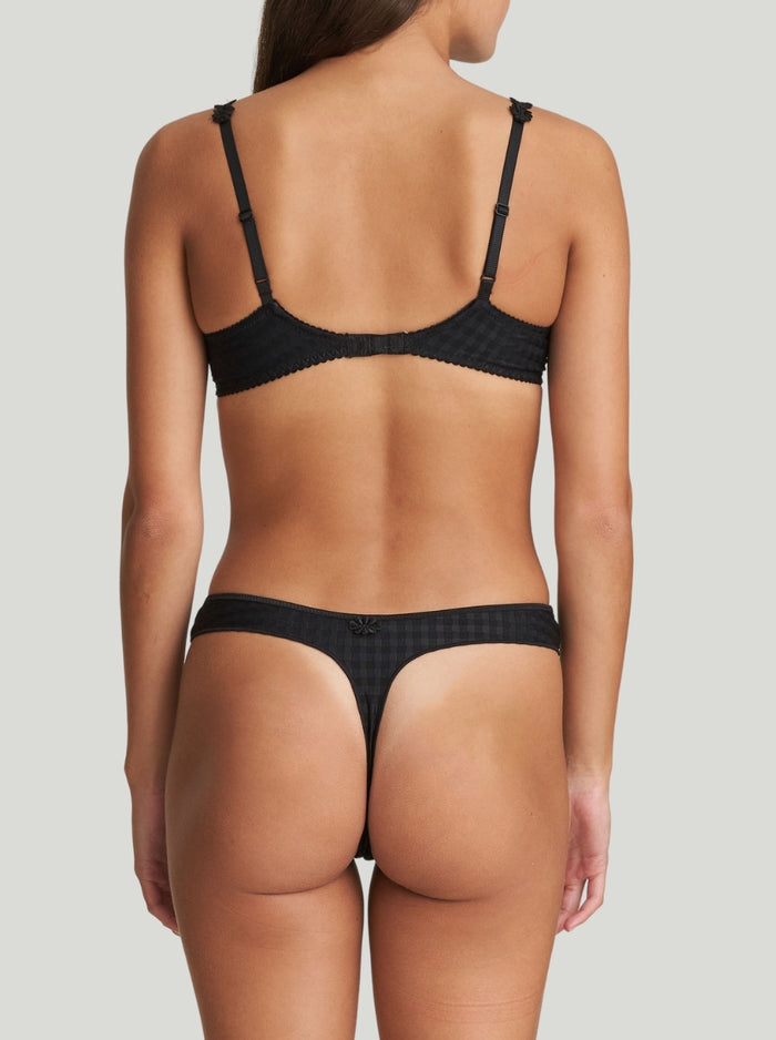 Marie Jo Avero mid-rise thong in Black