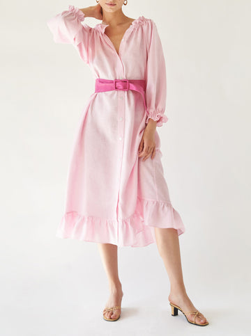 Judas Tree ruffled loungewear dress