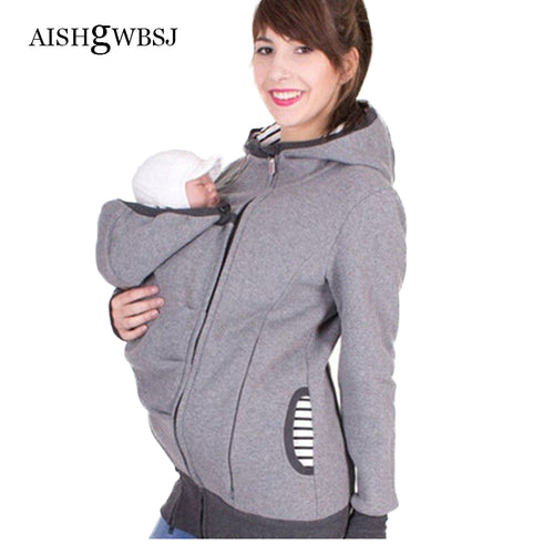 Baby Carrier Jacket Kangaroo Outerwear Hoodies Sweatshirts For Pregnant Women Pregnancy Baby Wearing Coat