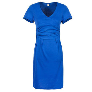 Pregnant Women Maternity Short Sleeve Casual Dress Cotton Summer Clothes