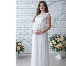 Load image into Gallery viewer, AmyDong Dress, Pregnant Long Dress Maternity Dress Lace Tail Dress Gown