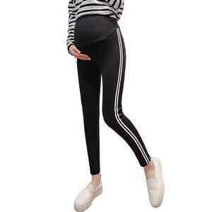 Maternity Leggings Dress Pregnant Woman Elastic Force Self-cultivation Pants Support Abdomen Trousers Pregnancy Legging