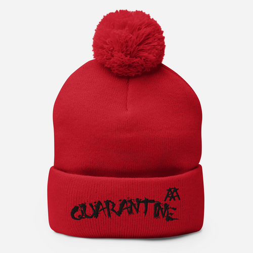CrisisKhan Collection - Quarantine Pom-Pom Beanie - Marzelli