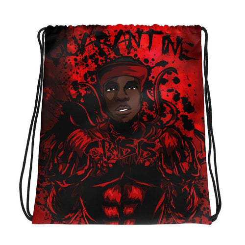 CrisisKhan Collection - Quarantine Drawstring bag - Marzelli