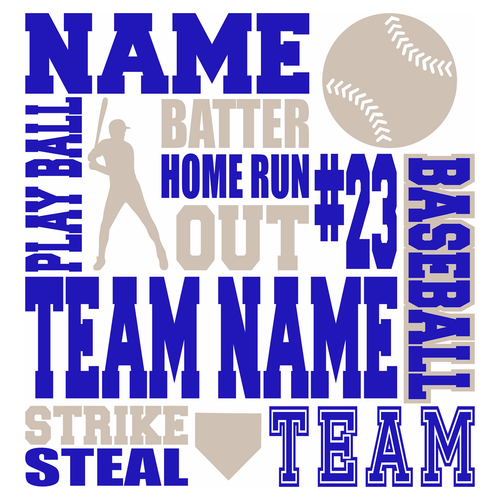 DIY Personalized Baseball Sign Stenciling Kit