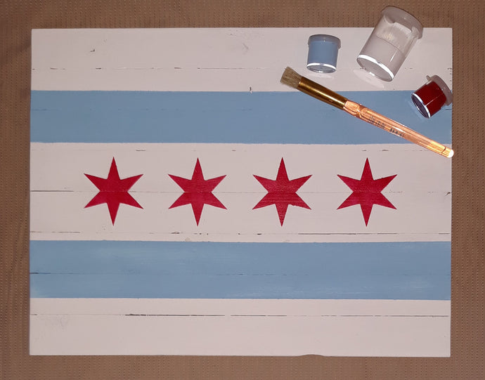 DIY Sign Kit: Chicago Flag