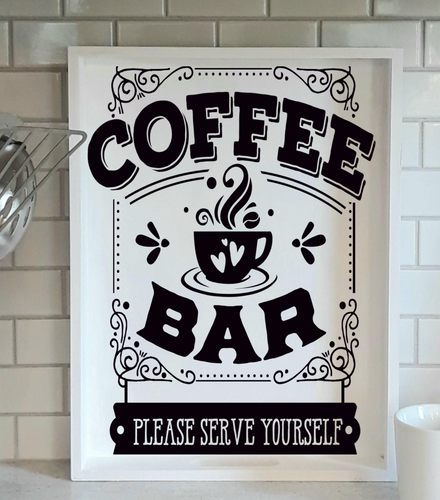 DIY Serving Tray Stenciling Kit (Coffee Bar Design #1)