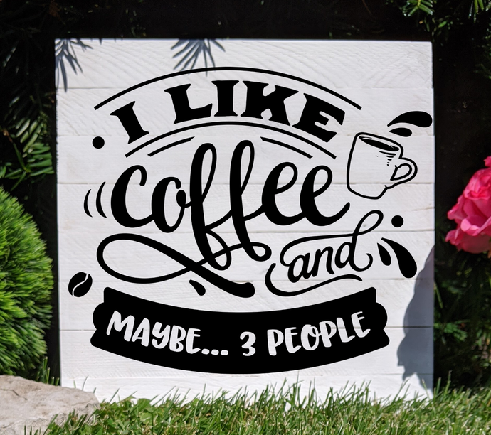 DIY Coffee Quote Sign Stenciling Kit (Design #1)