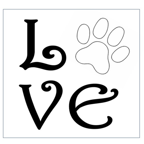 DIY Love w/ Paw Print Sign Stenciling Kit