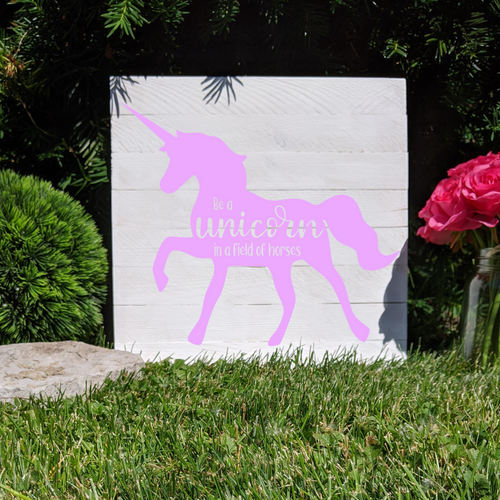 DIY Be A Unicorn Sign Stenciling Kit