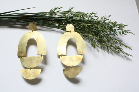Giant Statement Earrings - Arcs