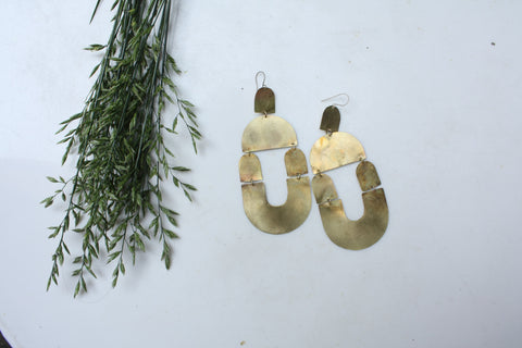 Giant Statement Earrings - Crescent