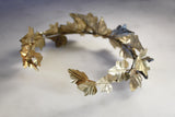 Brass ivy crown side view