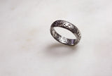 "Poesy Ring inscribed with ""Alle My Trust"""