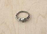 Skull With Hands Ring