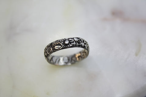 "Poesy Ring inscribed with ""Love Merits All Things"""