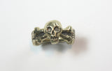 Skull Ring with Latin Inscription - Tu Fui Ego Eris