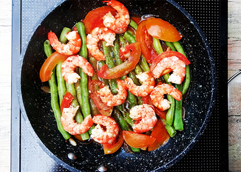 Shrimp and String beans (Easy Low Carb Meal)