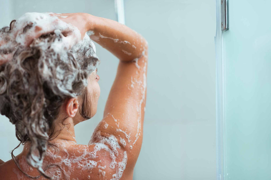 healthy lifestyle habits - morning routine they take a shower