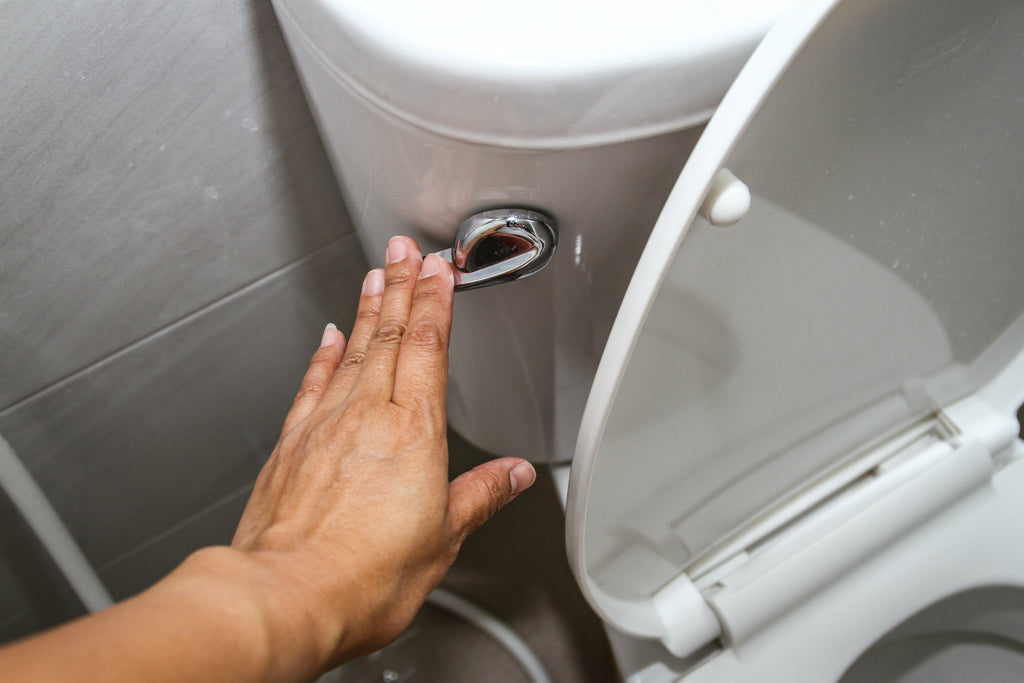 9 Germ-Spreading Habits You Should Stop Doing Right Now flushing the toilet