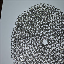 Load image into Gallery viewer, 6x6 STAINLESS STEEL CHAINMAIL SCRUBBER