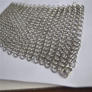 6x6 STAINLESS STEEL CHAINMAIL SCRUBBER
