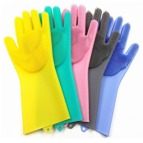 DURABLE HEAT AND SLIP RESISTANT LONG RUBBER SILICON GLOVE