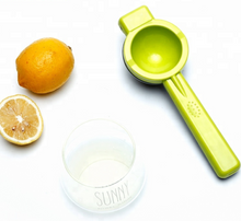 Load image into Gallery viewer, HOT ORANGE LEMON SQUEEZER WITH BOWLS