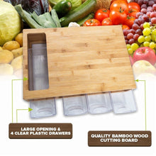 Load image into Gallery viewer, WOODEN BAMBOO SLIDING TRAY WITH CUTTING BOARD