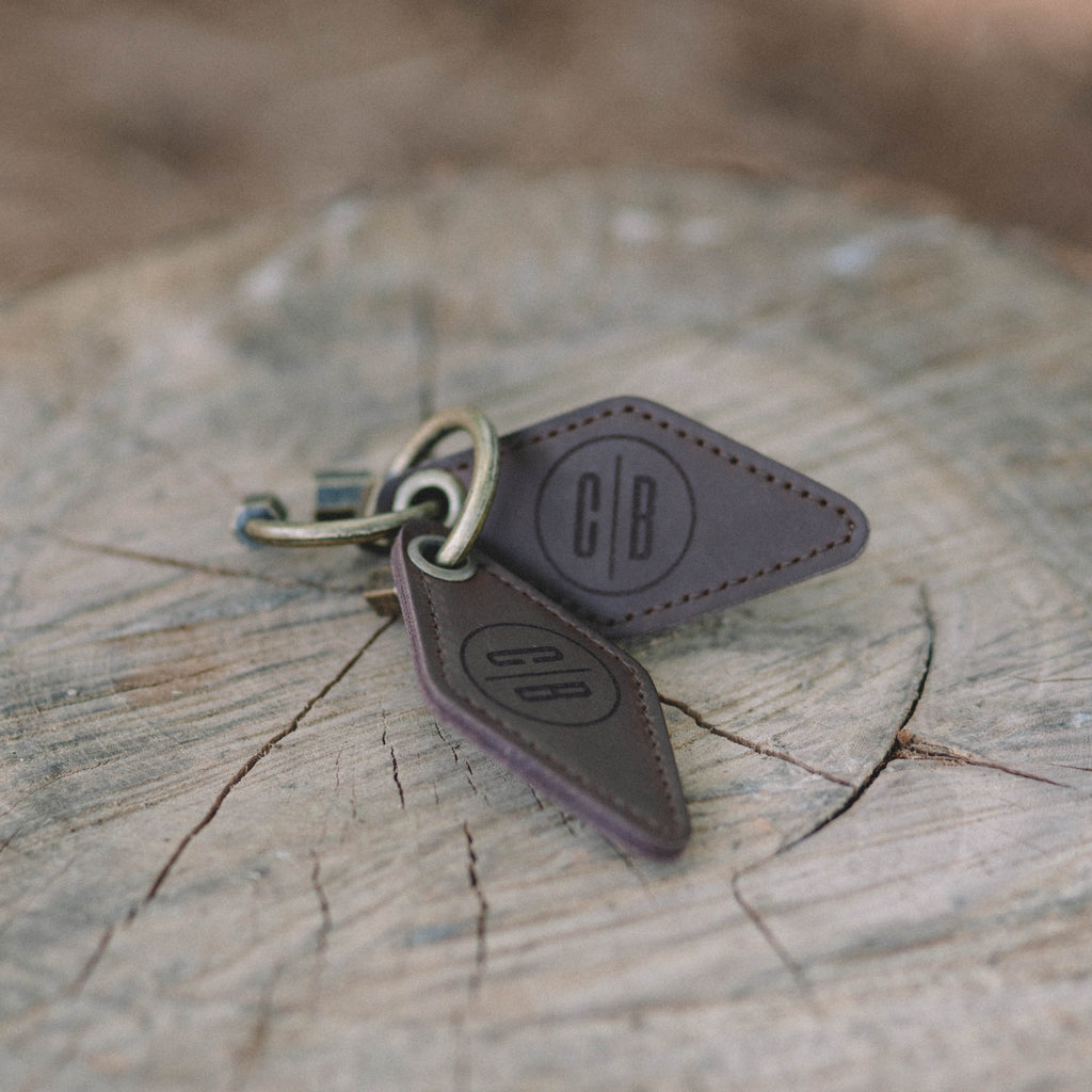 Leather CB Key Chain
