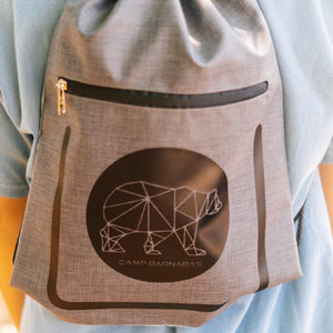 Geo Bear Drawstring Bag