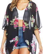 Load image into Gallery viewer, Rosey Summer Kimono