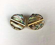 Load image into Gallery viewer, bloomandthebee,Abalone Shell Button Earrings,Bloomandthebee,
