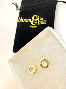 bloomandthebee,The Time Is NOW! Crystal Roman Numeral Studs,Bloom and The Bee ,earrings