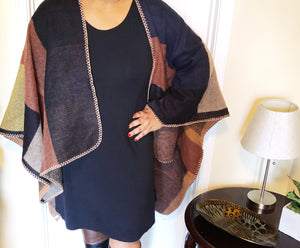 Cozy Patchwork Wool Wrap