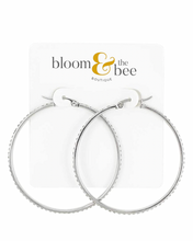 Load image into Gallery viewer, bloomandthebee,Dazzle & Steel Hoop Earrings,Bloom and The Bee,earrings