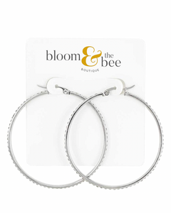 bloomandthebee,Dazzle & Steel Hoop Earrings,Bloom and The Bee,earrings