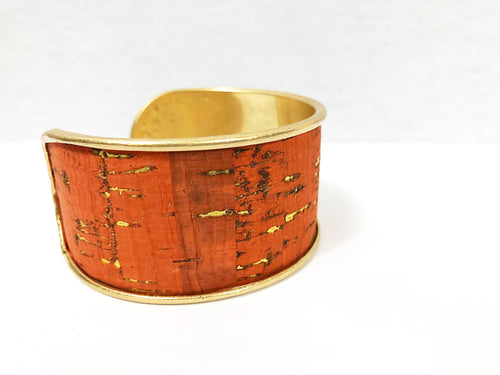 bloomandthebee,Golden Cork Cuff,Bloom and The Bee ,