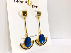 bloomandthebee,Elegant in Egypt Crystal Drop Earrings,Bloom and The Bee ,earrings