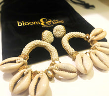 Load image into Gallery viewer, Queen Sheba Cowrie Shell Earring