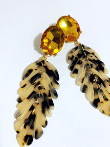 Spotlight Acrylic Feather Earrings