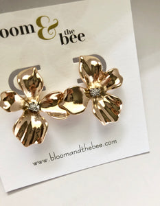 bloomandthebee,Lotus Blossom Earrings,Bloom and The Bee ,earrings